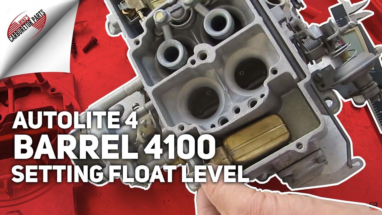 Autolite 4 Barrel 4100 Setting Float Level  YouTube