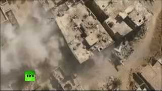 Сирийская армия атакует объекты «Исламского государства» (съемка с беспилотника)