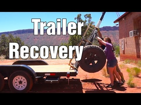 Driving back to Castle Valley: Trailer Recovery