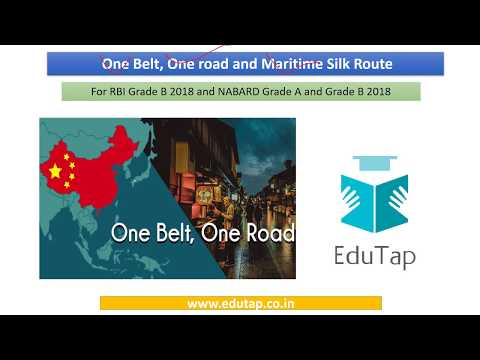 One Belt, One Road and Maritime Silk Route explained for RBI and NABARD 2018