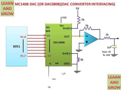 MC1408 Dac (Or DAC0808)(DAC Converter Interfacing)(हिन्दी) - YouTubeYouTube