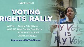 Subscribe, Like, Hit the Bell;  Voting Rights Rally August 10th, 2021 @ 6pm