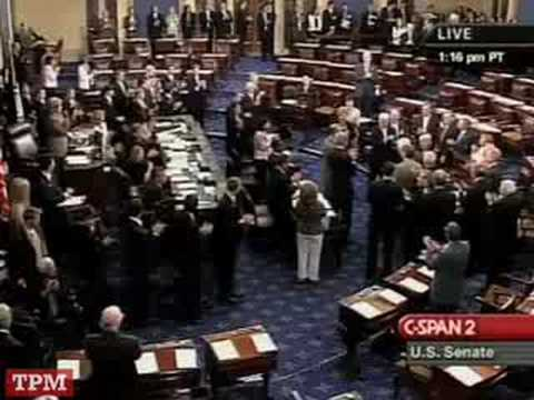 Ted Kennedy Returns to the Senate Floor