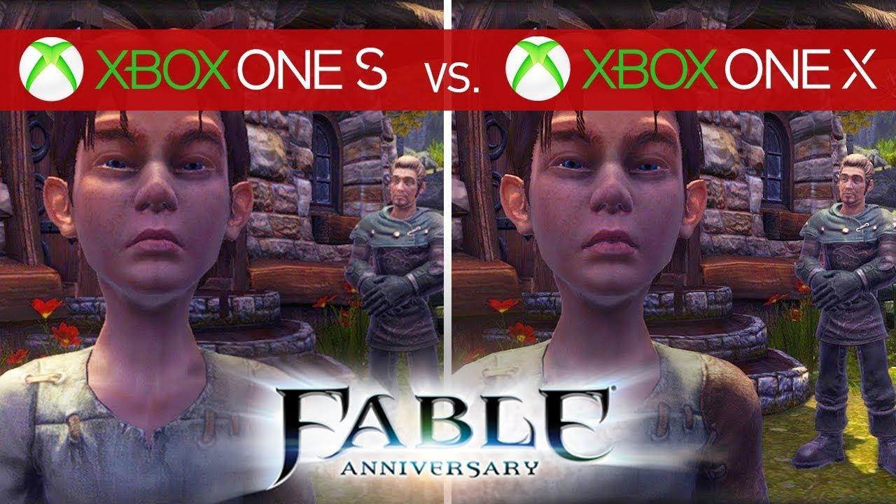 Fable Anniversary Comparison - Xbox One X vs  Xbox One S