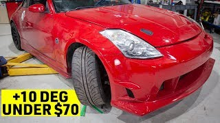 Nissan 350Z How To Cheap & Easy Steering Angle Mod