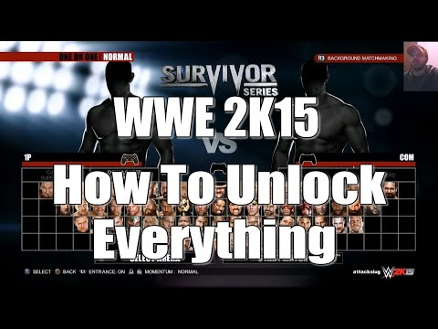 WWE 2K15 PS4 - How To Unlock Everything