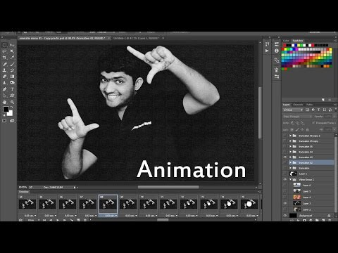 #98 Animation in Adobe Photoshop (.gif, Frame to Frame, Loop, Reverse ) In Hindi