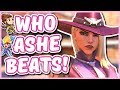Overwatch - ASHE COUNTER LIST (Who to Play Ashe Against!)