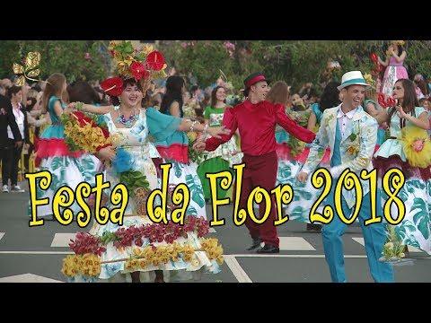 Festa da Flor Funchal Madeira 2018 cortejo. Flower Festival Parade Blumenfestzug
