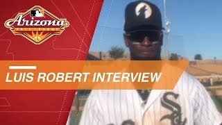 Luis Robert talks about his 3-for-4 performance