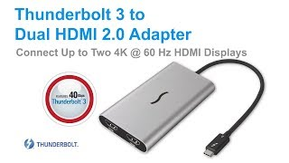 Sonnet Thunderbolt 3 to Dual HDMI Adapter Quick Overview Video