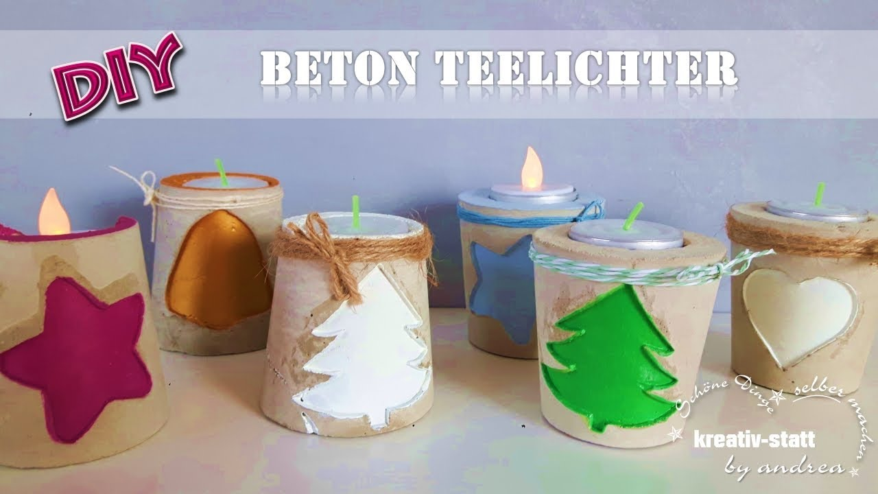 Beton Kerzenständer Diy Diy Concrete Candle Holder With Embossing How To