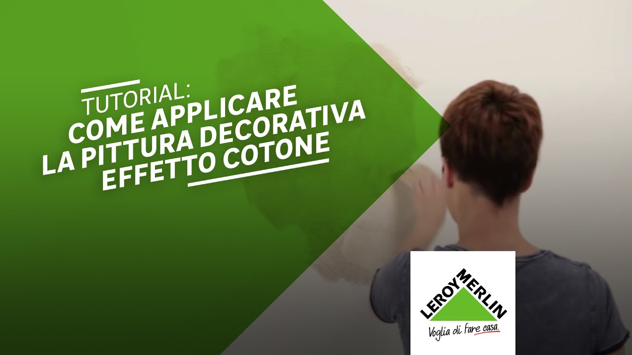 Pittura Pareti Effetto Seta : Come applicare la pittura ad effetto decorativo cotone u2013 leroy
