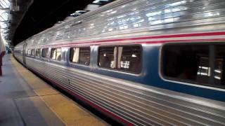 Amtrak & NJ Transit Newark Penn Station HHP-8 No. 656 Horn Action !!!