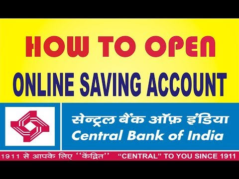How to apply Online saving account Central bank of India || HINDI ||