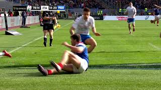 Penaud scores after slick out the back door pass from Ntamack! | Guinness Six Nations