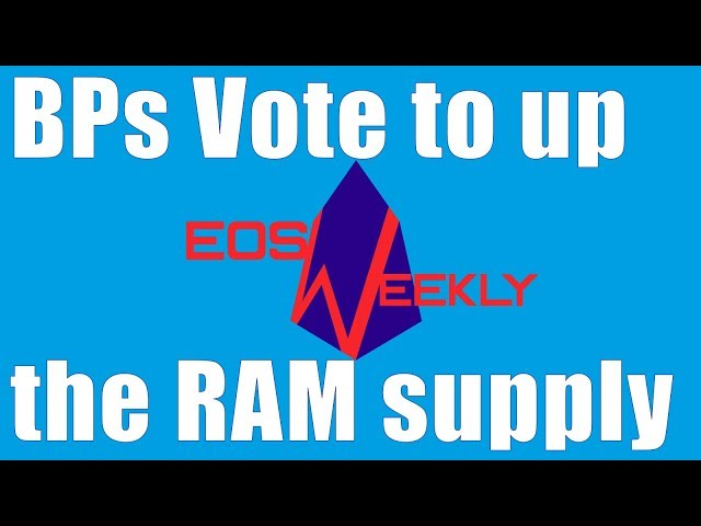 EOS RAM supply & price, EOS Conferences, Referendum Contract, iRespo dApp