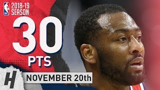 John Wall Full Highlights Wizards vs Clippers 2018.11.20 - 30 Pts, 8 Ast, 4 Rebounds!