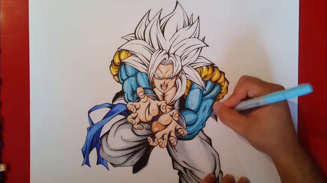 Desenhando O Goku Super Sayajin 4 Blue 1 Youtube