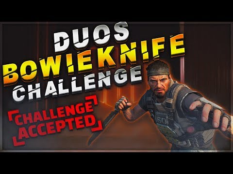 CoD Blackout | Duos Bowie Knife Only Challenge!