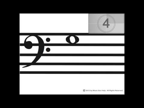 Bass Clef Notes Video Flashcards #1 Lines and Spaces