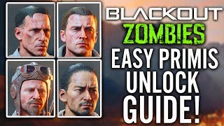 BLACKOUT: UNLOCK ALL PRIMIS CREW: How to Unlock Richtofen, Nikolai, Takeo & Dempsey in Blackout