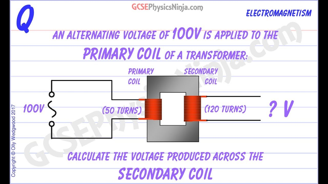 Transformer Calculation Example - GCSE Physics
