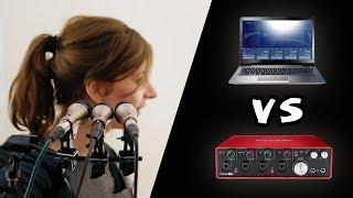 Interface vs. Laptop Onboard Soundcard | Sound Quality Comparison