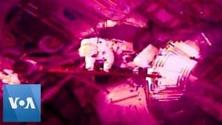 Astronauts Perform Spacewalk to Swap Batteries