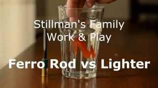 Lighter VS Ferrocerium Rod with  Scripto Lighter Hack - Firesteel Ferro