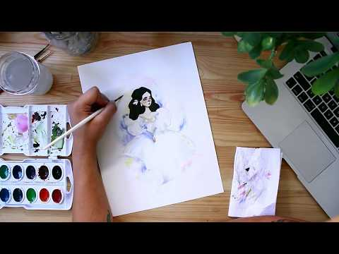 As The World Falls Down | Watercolor Painting | MarsupialPudding