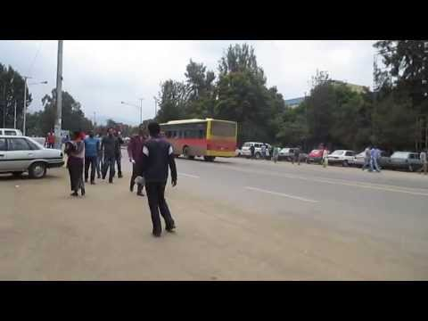 Walking Down the Street of Addis