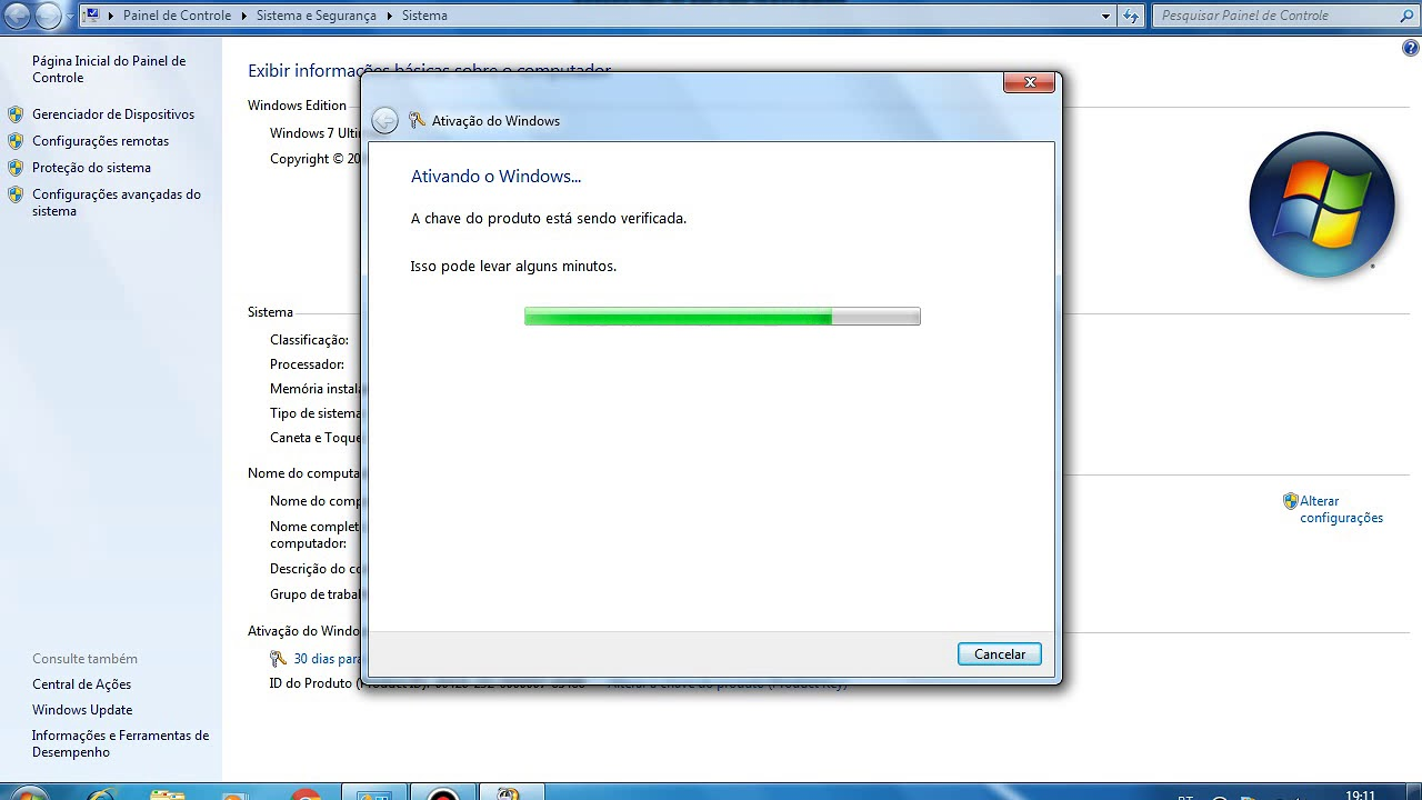 serial do windows 7 ultimate 32 bits valido