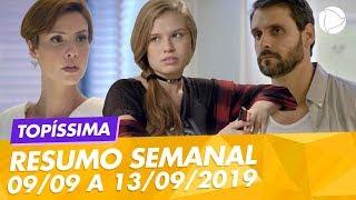 Novela Topíssima: Resumo da semana de 09/09 a 13/09/2019 (09 a 13 de setembro) - Capítulos 80 a 84