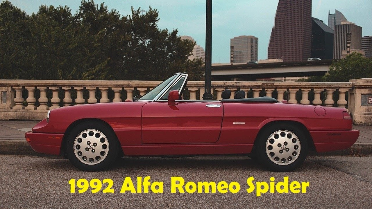 look at this!!! 1992 alfa romeo spider veloce - youtube