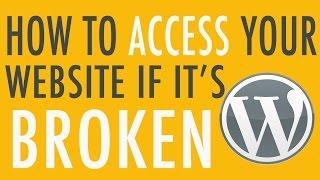 How to Fix Broken Wordpress Site