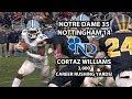 Notre Dame 35 Nottingham 14 | Cortaz Williams Breaks 3,000 Career Rushing Yards!