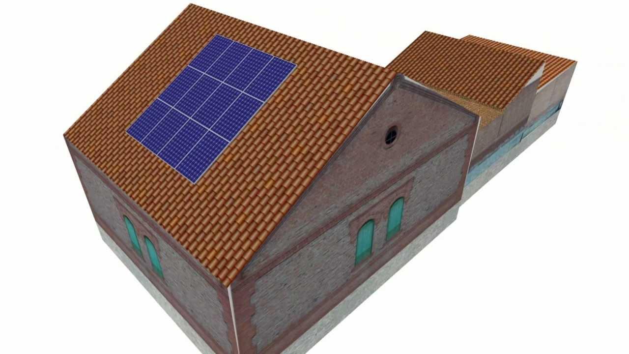 Soluci n robo paneles solares en tejados youtube for Tejados solares