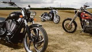 Harley Wide Glide v Victory Vegas v Triumph Thunderbird