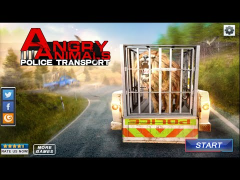 Angry Animals Police Transport - Simulation Game Wildlife - Gameplay