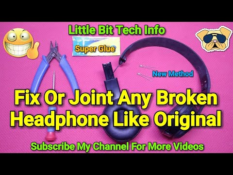 How To Fix or Joint Any Broken Headphone Properly | Strongly
