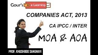 CA IPCC/Inter Law - Memorandum of Association & Articles of Association - by Prof. Khushboo Sanghavi
