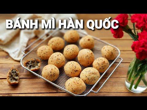 Cách làm Bánh Mì Hàn Quốc Bằng Nồi Chiên Không Dầu |  Làm bánh không cần máy đánh trứng