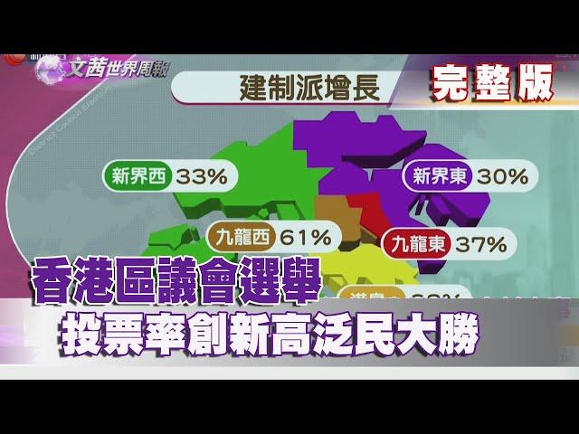 【完整版】2019.11.30《文茜世界周報-亞洲版》香港區議會選舉 投票率創新高泛民大勝 |Sisy's World News