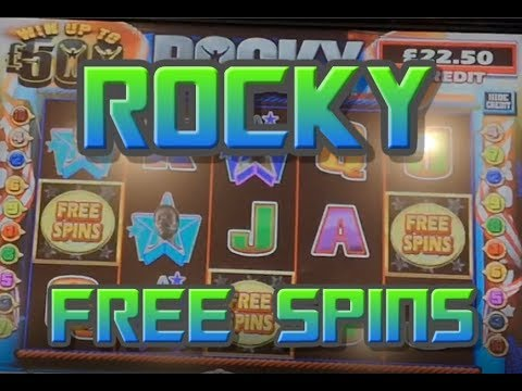 Rocky £500 Jackpot Slot With Free Spins! (Fruit Machines)