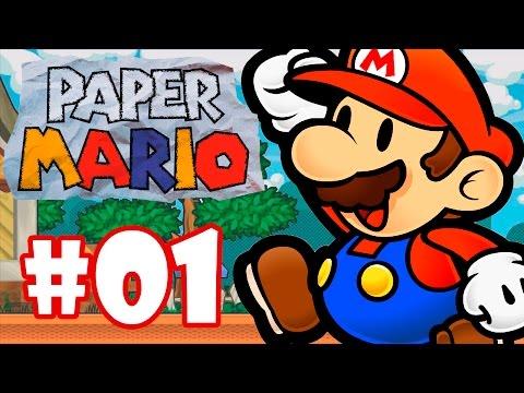 PAPER MARIO #1 - GAMEPLAY DO INÍCIO