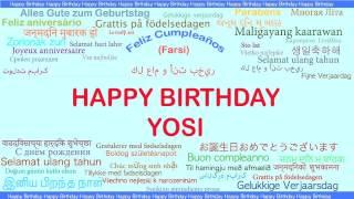 Yosi   Languages Idiomas - Happy Birthday