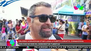 Crucero Norwegian Star llega a Puerto Corinto, Chinandega, con más de dos mil doscientos turistas