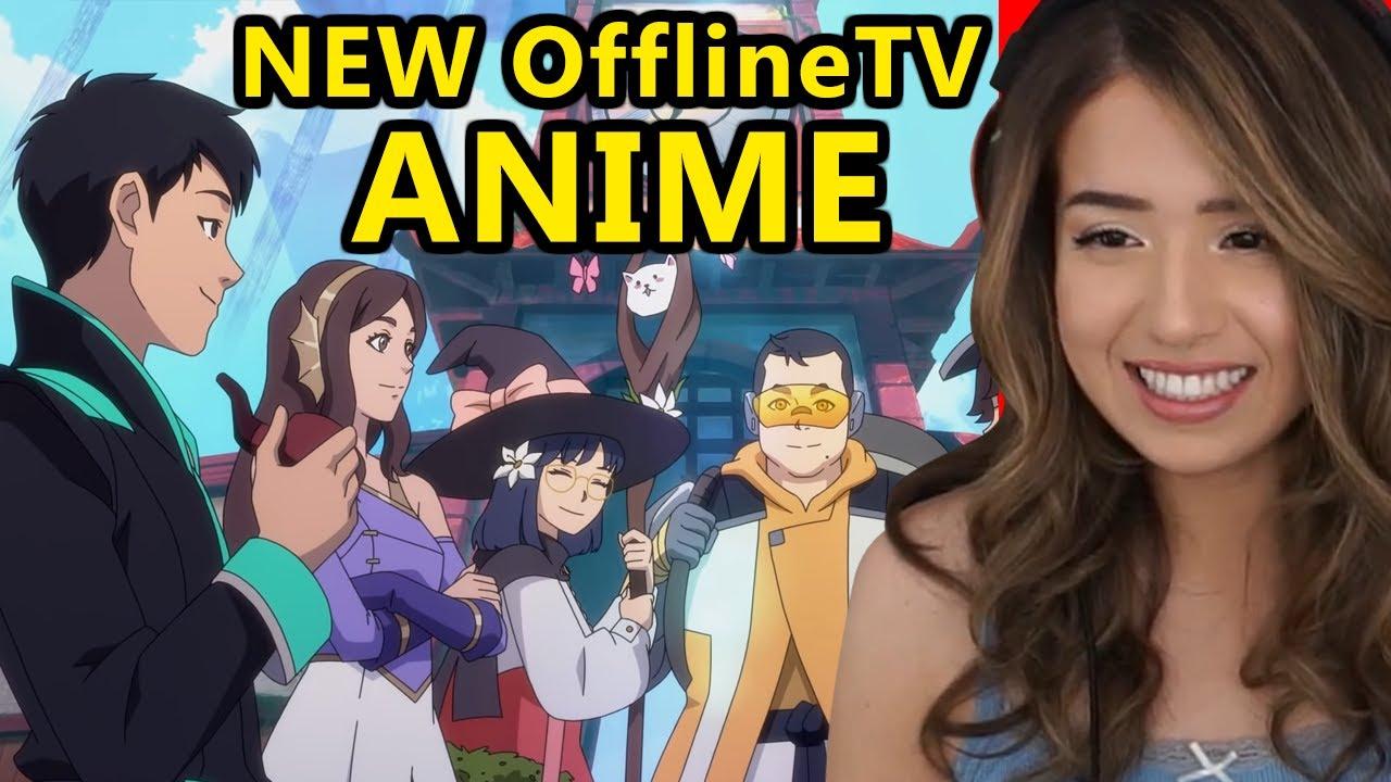 Pokimane Reacts to OfflineTV Anime Trailer (Japanese & English version)