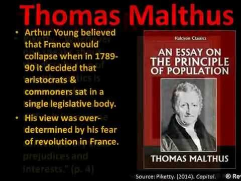 Thomas Malthus according to Thomas Piketty WITH GRAPHS, Rey Ty